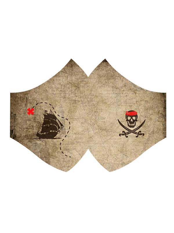mascarilla mapa pirata con salvaorejas