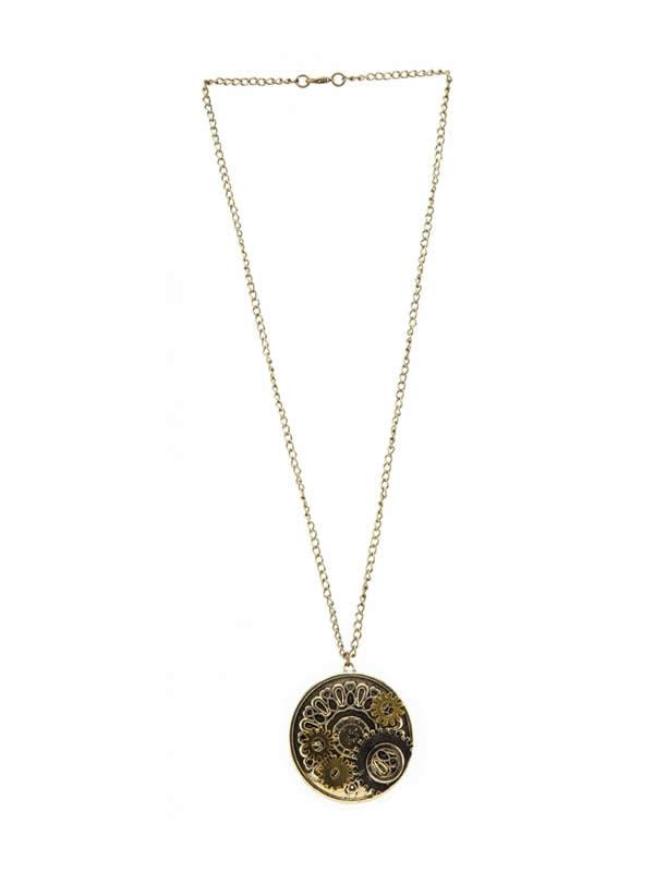 medallon steampunk de engranajes