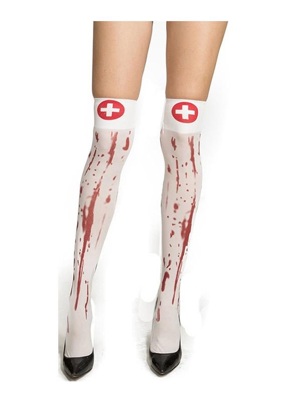 medias cortas enfermera de sangrienta