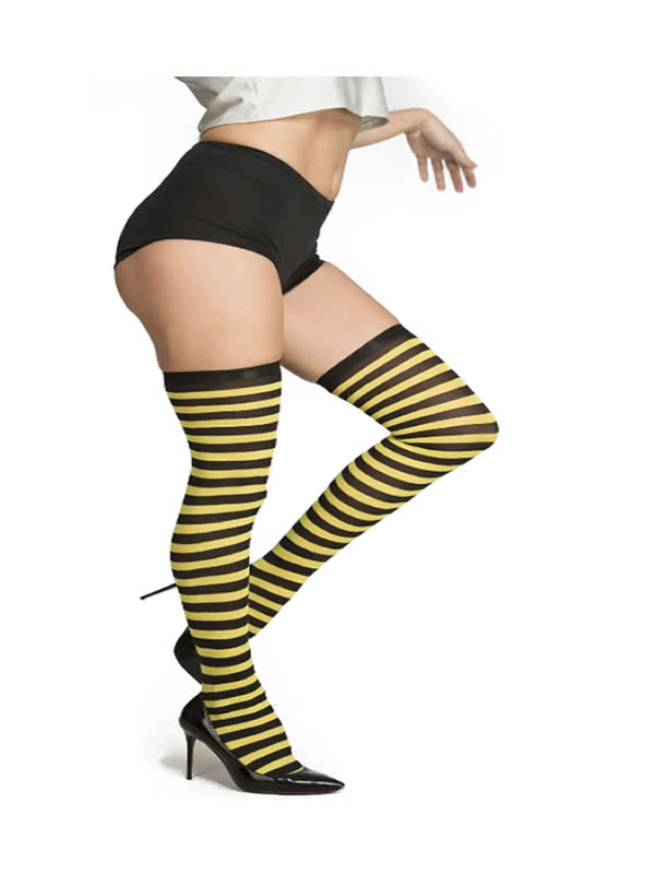 medias rayas amarillas y negras