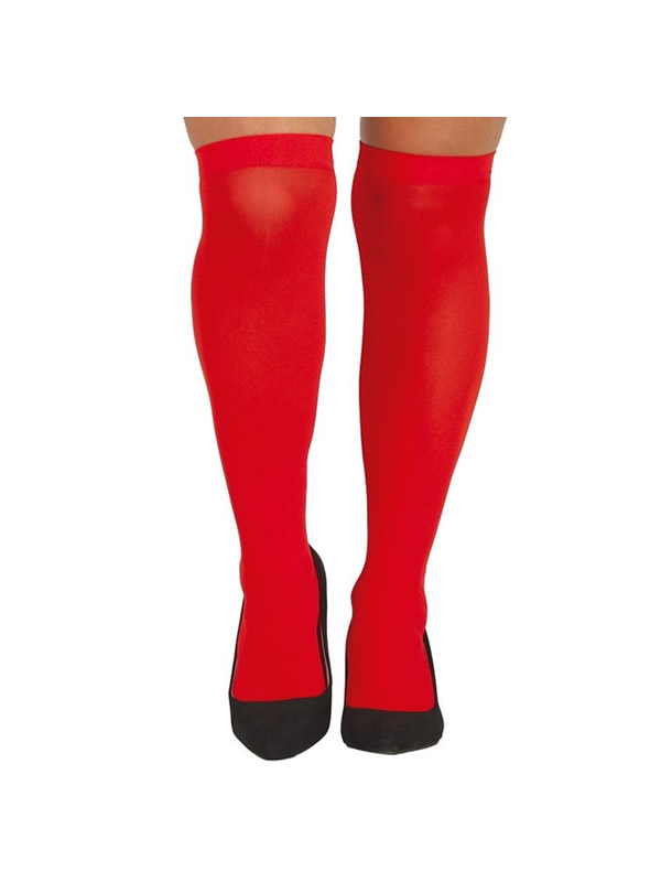 medias rojas adulto