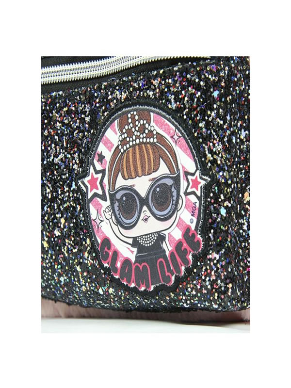 mochila de pelo rosa casual lol 4