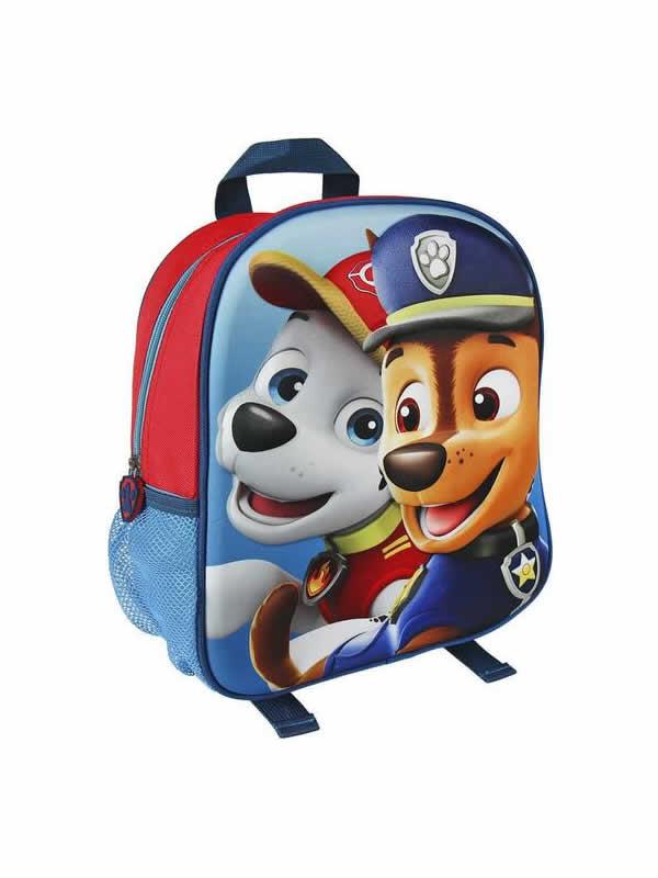 mochila patrulla canina 3D infantil