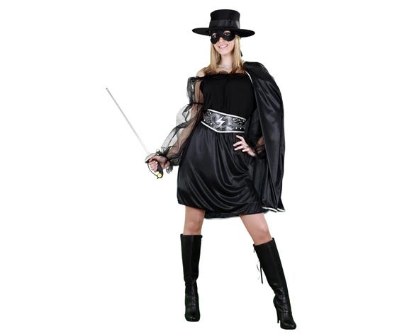 disfraz de zorro bandida barato para mujer