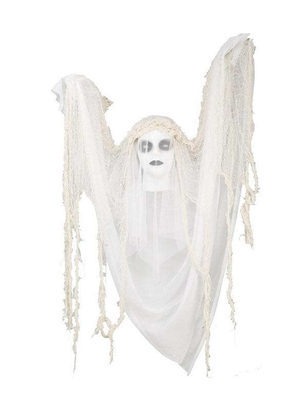 novia fantasma con movimiento luz y sonido de 120 cm