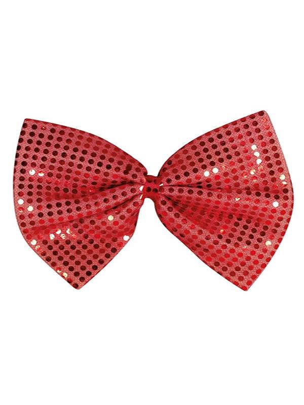 pajarita de lentejuelas roja 30 cms