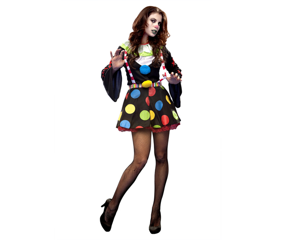 disfraz de payasa diabolica para halloween