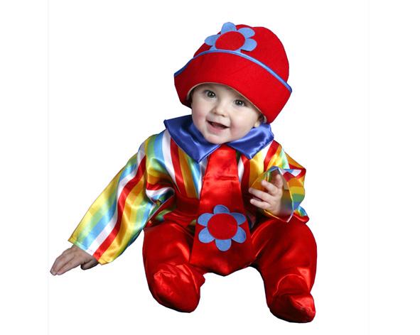 disfraz de payasete colorido para bebe