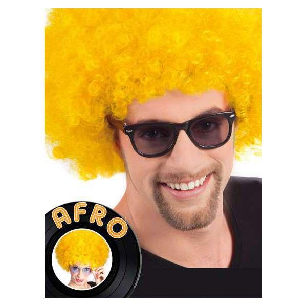 peluca afro gigante amarillo