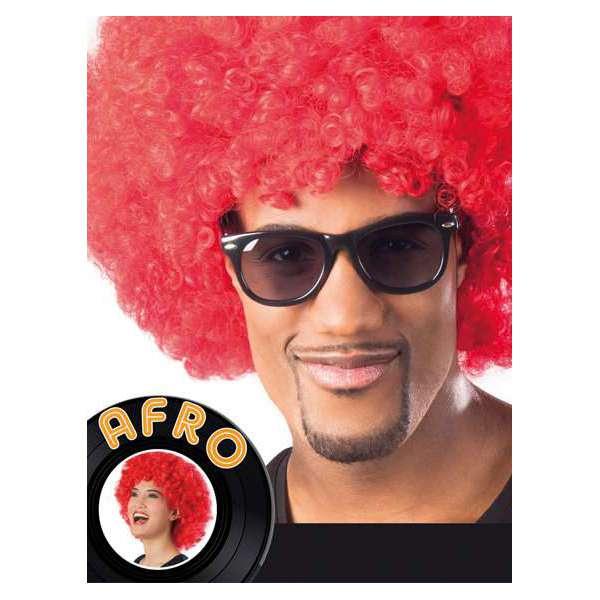 peluca afro gigante rojo