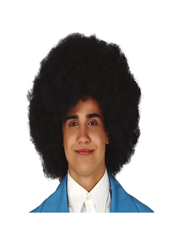 peluca afro super negra