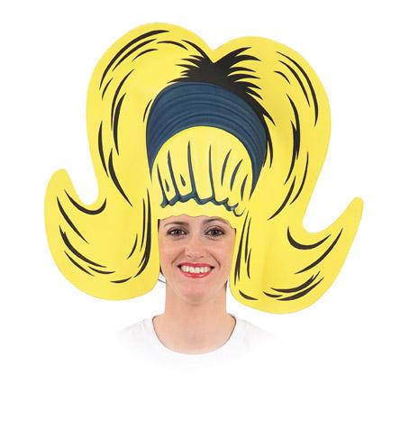 peluca años 60 de goma eva 58x45 cm | DisfracesMimo | Disfraces online