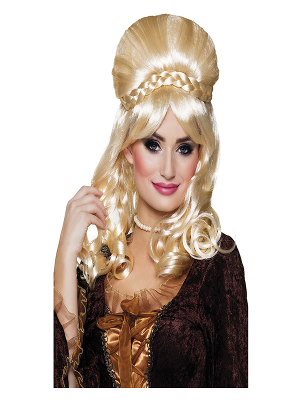 peluca barroca rubia para mujer 59374 0 - ¿Cómo celebrar la semana santa con tu disfraz de romano o disfraz de romana y complemento?