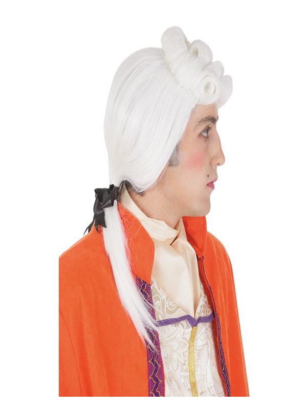 peluca blanca duque de epoca