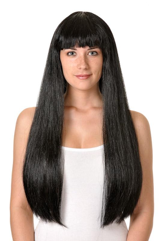 peluca cleopatra larga flequillo varios colores