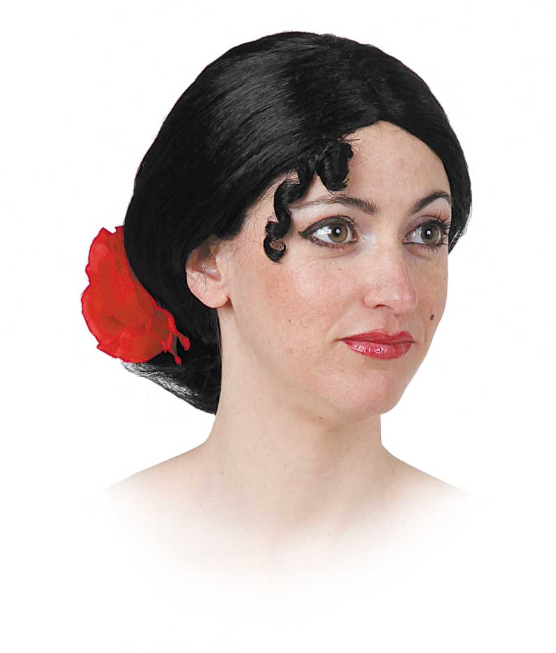peluca de anduluza con moño