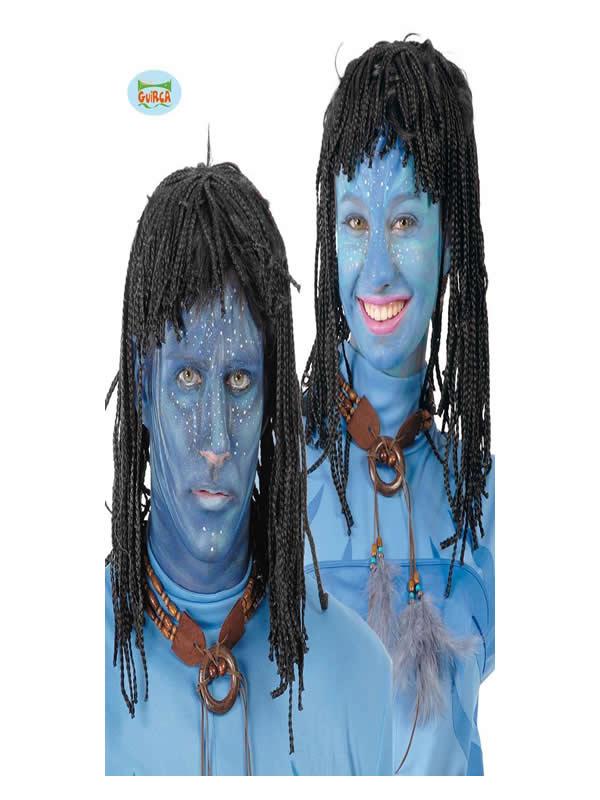 peluca de indigena avatar adulto