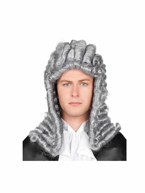 peluca de juez gris