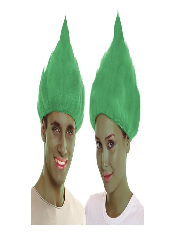 peluca de troll verde