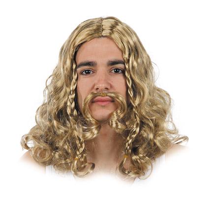 peluca de vikingo con trezas varios colores