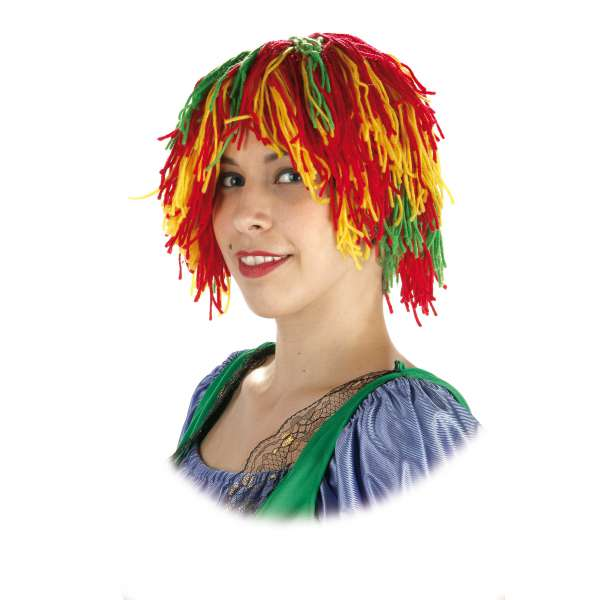 peluca lana multicolor