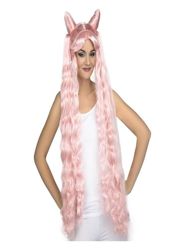 peluca manga rosa con moños