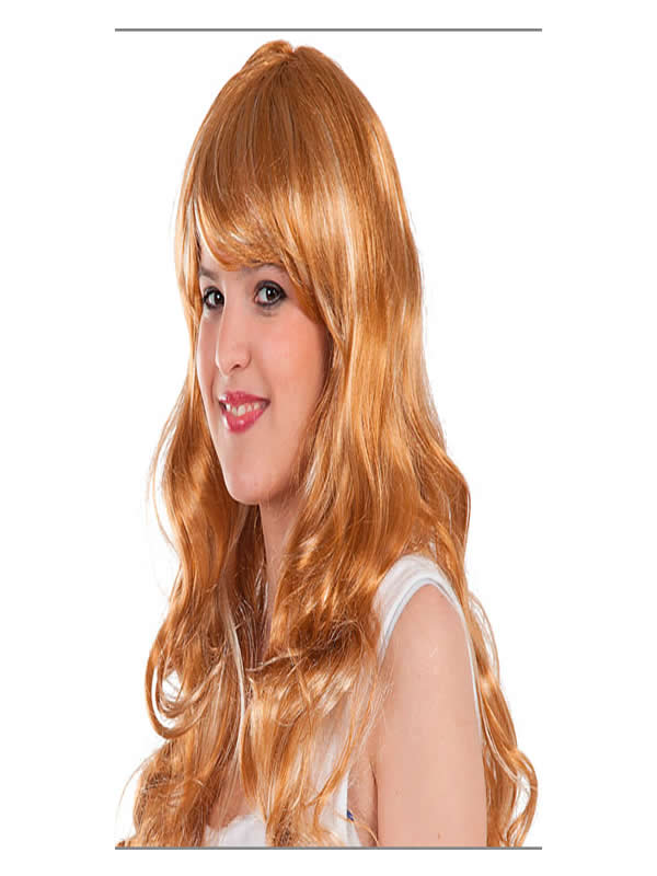 peluca melena ondulada mujer