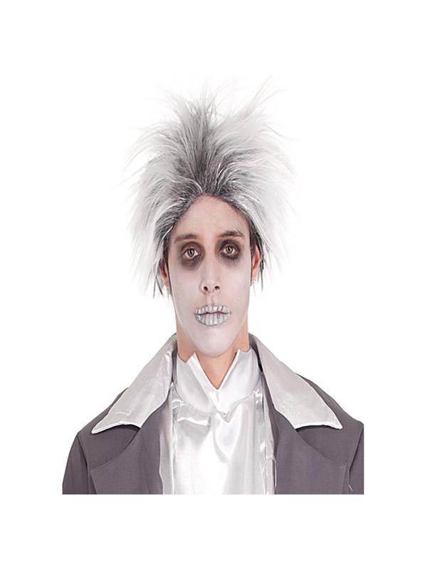 peluca novio cadaver gris y blanca