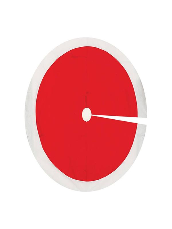 pie de arbol rojo y blanco 120 cm