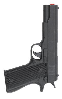 pistola de gangster plastico 23 cm