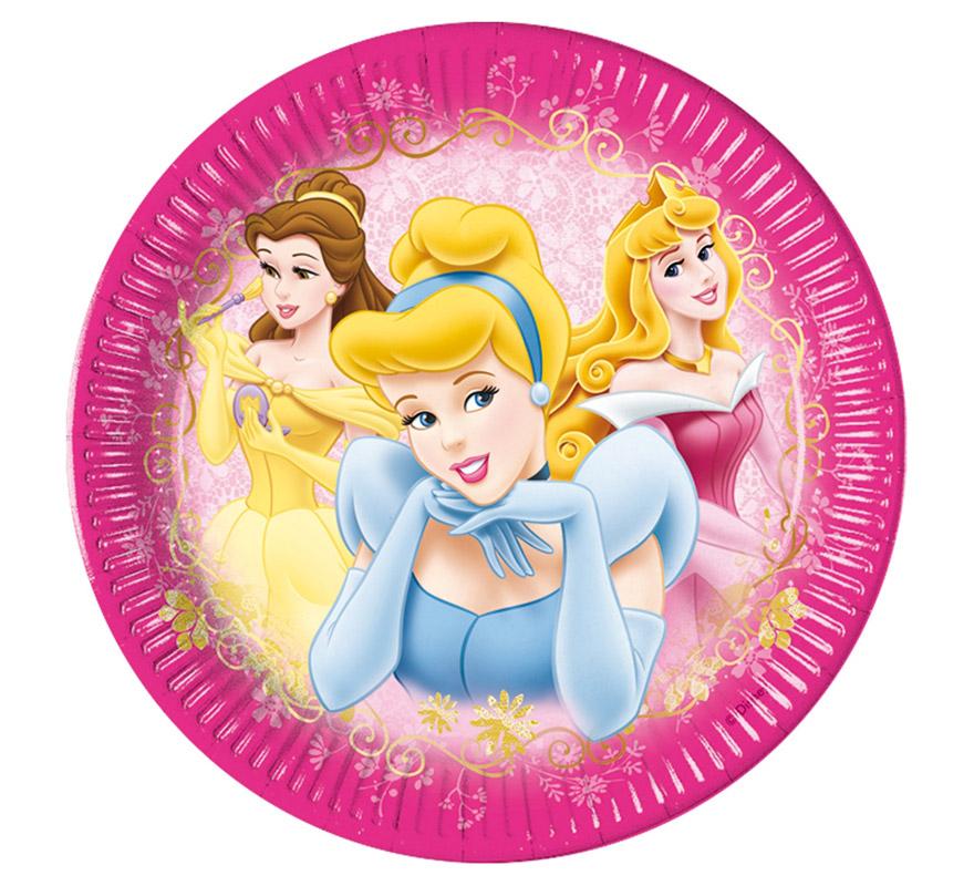 platos de princesas 8 unidades para cumpleaños