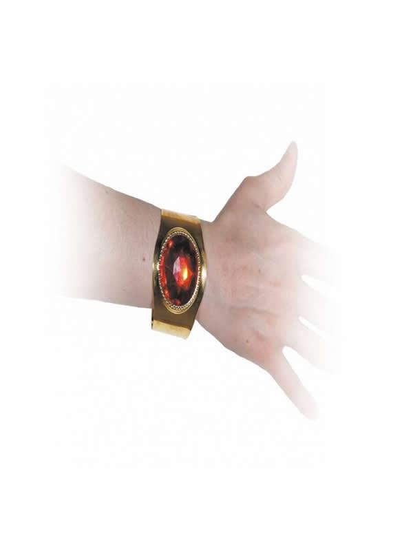 pulsera de metal oro y con piedra