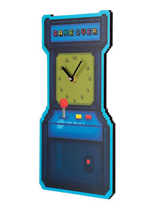 reloj de pared juego arcade game over 4