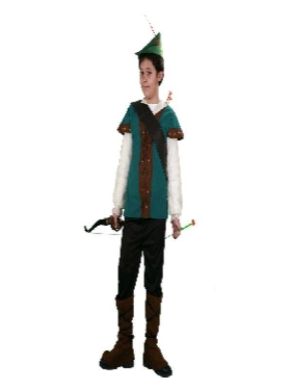 disfraz de robin hood arquero para niño