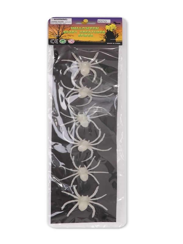 set de arañas 6 unidades para halloween