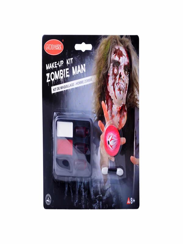 set de maquillaje zombie halloween