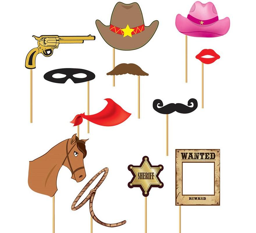 set de photocall cowboy 12 piezas