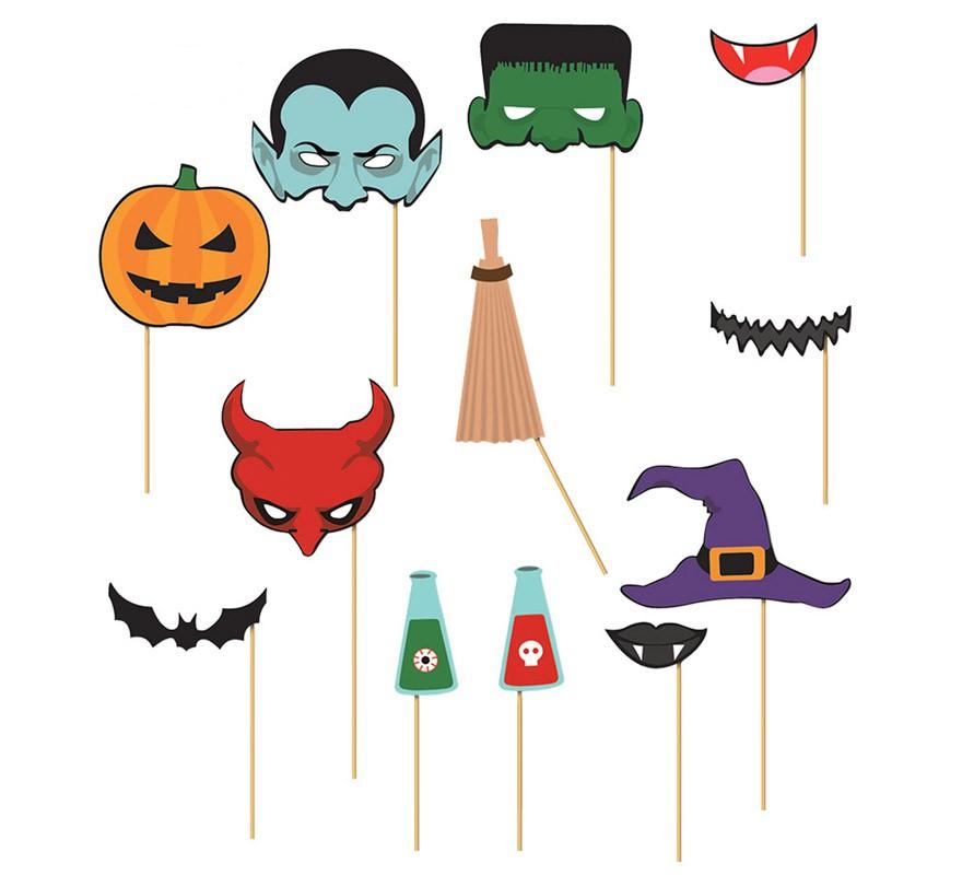 set de photocall halloween 12 piezas