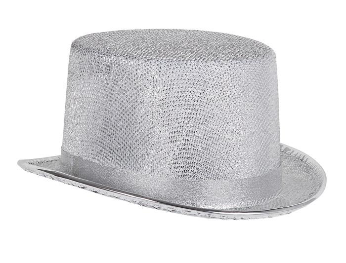 sombrero chistera metalizada
