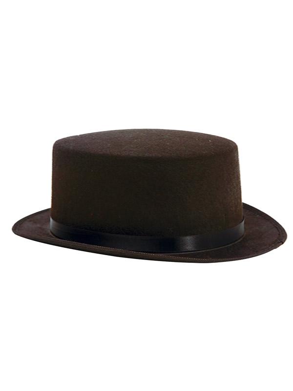 sombrero chistera negra 58cm