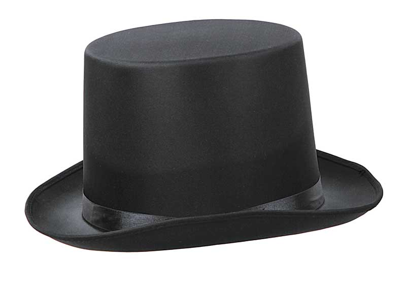 sombrero chistera negra lujo alta