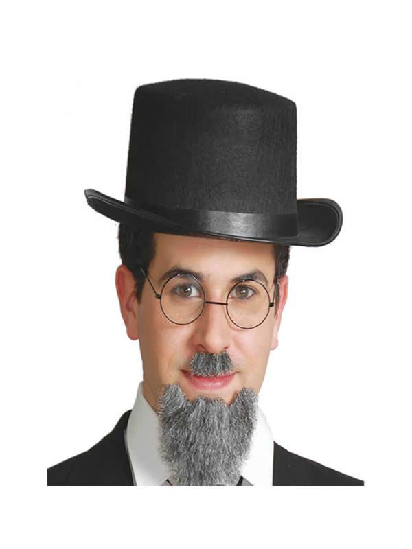 sombrero chistera o de copa fieltro negro