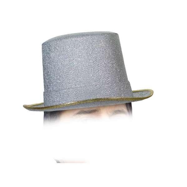 sombrero chistera plata deluxe