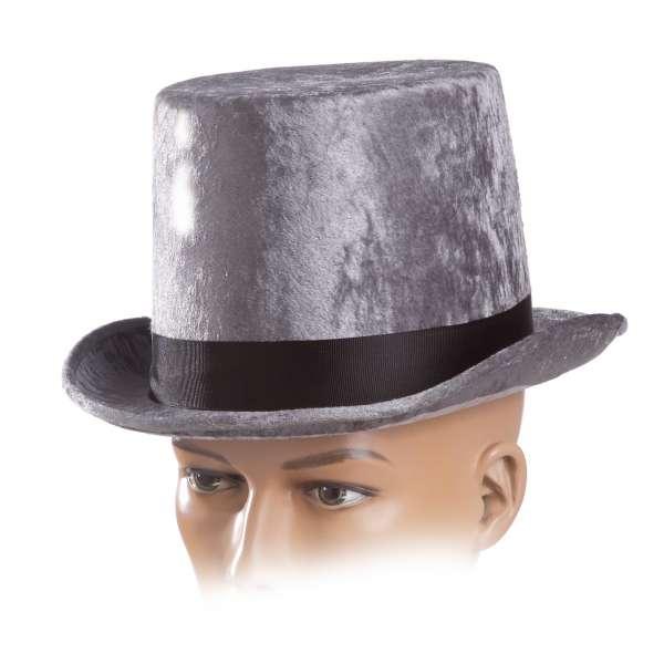 sombrero chistera plateada deluxe