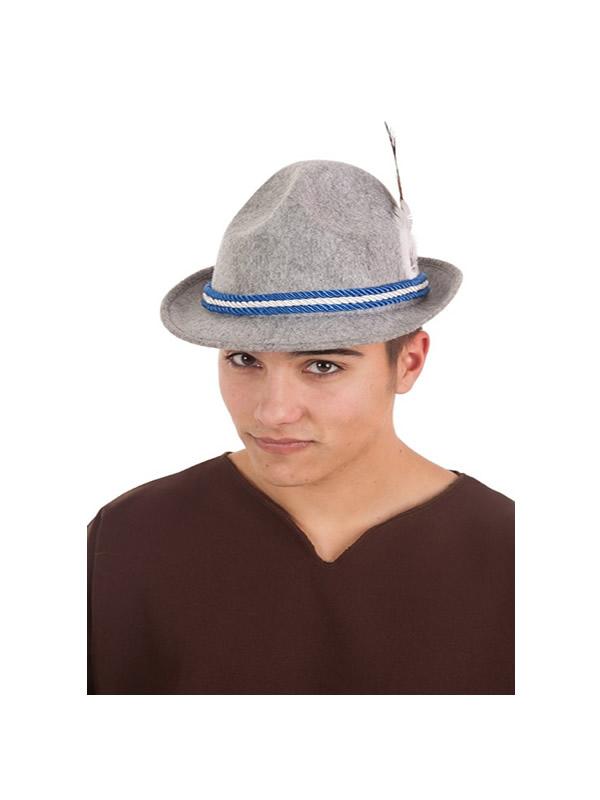 sombrero de bavaro con pluma adulto