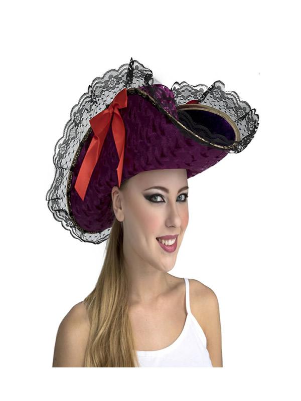 sombrero de capitan pirata mujer