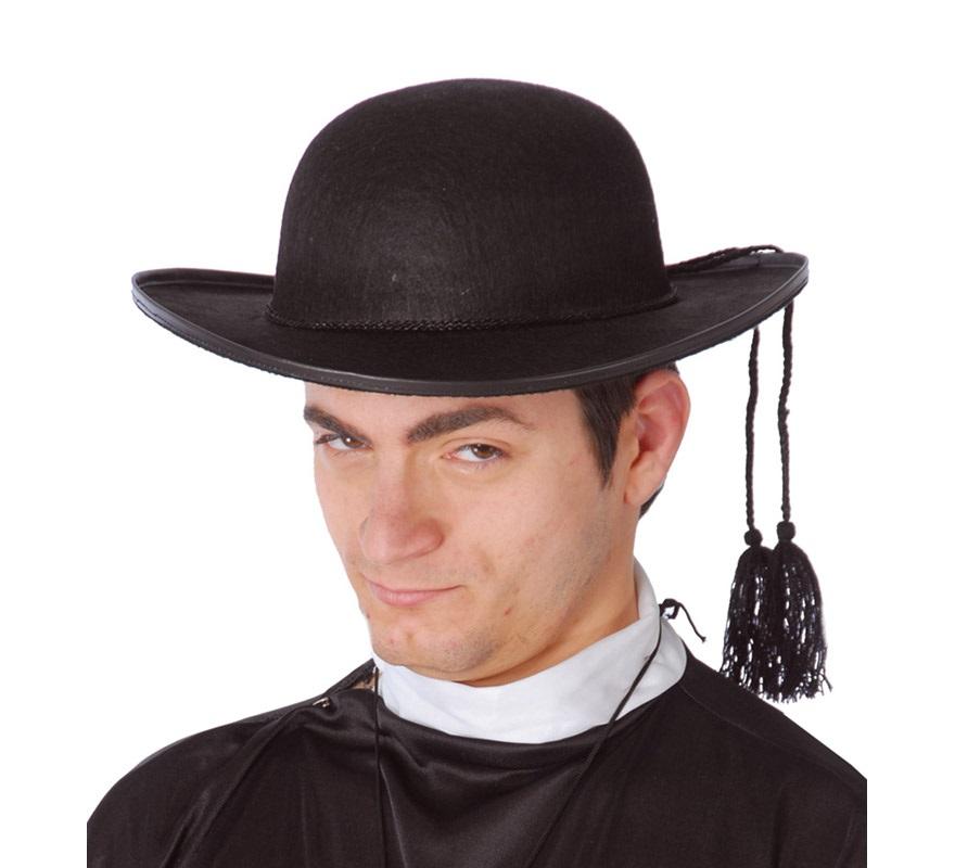 sombrero de cura fieltro adulto