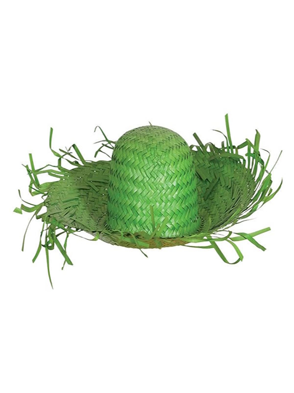 sombrero de espantapajaros paja verde
