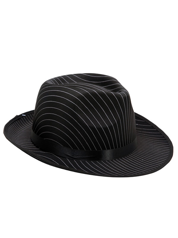 sombrero de gansgster con rayas