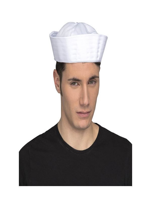 sombrero de marinero blanco adulto